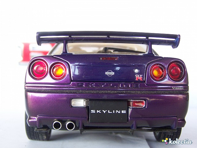 1 18 Auto Art Nissan Skyline Gtr R34 V Spec 1999 Midnight