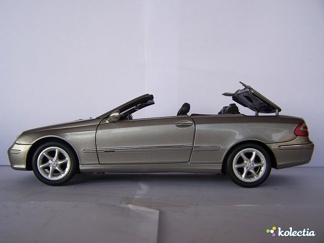 1 18 kyosho mercedes benz clk cabrio 2003 silver kolectia. Black Bedroom Furniture Sets. Home Design Ideas
