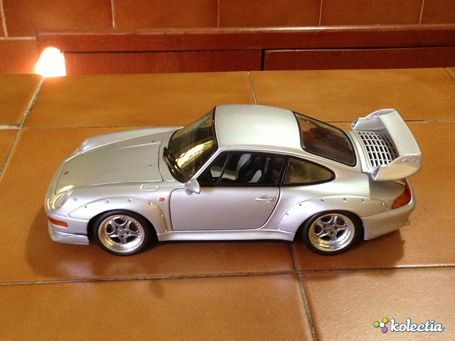 1 18 ut models porsche 911 993 gt2 road car 1995 silver kolectia. Black Bedroom Furniture Sets. Home Design Ideas
