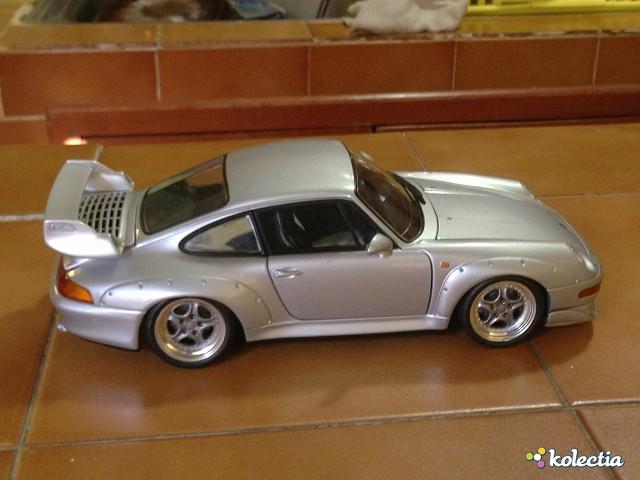 1 18 ut models porsche 911 993 gt2 road car 1995 silver. Black Bedroom Furniture Sets. Home Design Ideas