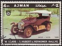 Ajman - 1970 - Cars - 4 DH - Multicolor - Cars, Rallye - Michel 615 - Car Benz 14/30 1909 Aniv. Hubert v. Herkomer Rallye - 0