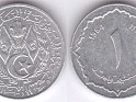 Algerian Dinar - 1 Centime - Algeria - 1964 - Aluminum - KM# 94 - 11,5 mm - Obv: Small arms within wreath. Rev: Value at center of scalloped circle. - 0