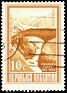 Argentina - 1960 - Inca Bridge, Mendoza. - 10C - Brown & Yellow - Landscape - Scott 696 A278b - 0