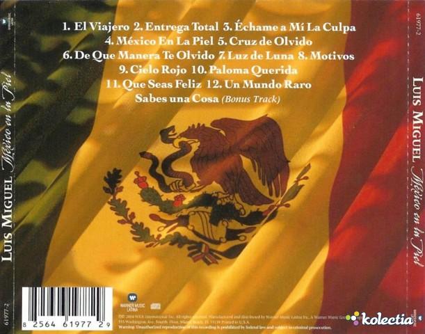 Luis Miguel Mexico En La Piel Warner Music Latina CD Spain