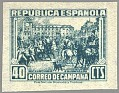 Spain 1939 Email Campaign 40 CTS Green Edifil NE 50