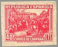 Spain 1939 Email Campaign 40 CTS Red Edifil NE 49. España ne49. Uploaded by susofe