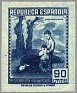 Spain 1939 Email Campaign 90 CTS Blue Edifil NE 54