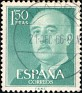 Spain - 1956 - General Franco - 1.50 Ptas - Blue Green - Dictator, Army General - Edifil 1155 - 0