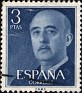 Spain - 1956 - General Franco - 3 Ptas - Blue - Dictator, Army General - Edifil 1159 - 0
