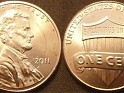 U.S. Dollar - 1 Cent - United States - 2011 - Copper Plated Zinc - KM# 468 - 19.05 mm - 0